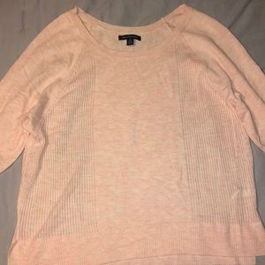 American Eagle 3 quarter length pink sweater, S